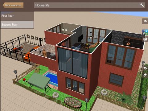 【無料】簡単に家の間取りがデザインできる!3Dで部屋の中も動き回れる!
