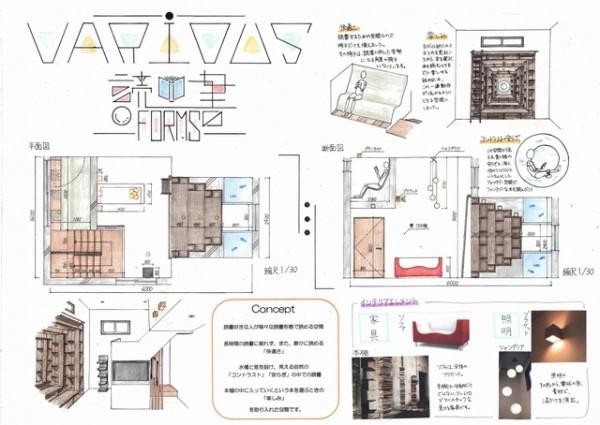 住まいのインテリアコーディネーションコンテスト高校生部門 千葉の高3生が会長賞|新建ハウジング