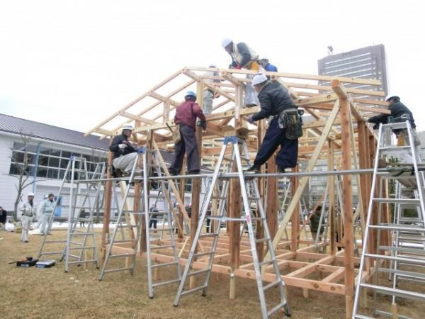 千葉県で木造仮設住宅施工講習を開催|新建ハウジング