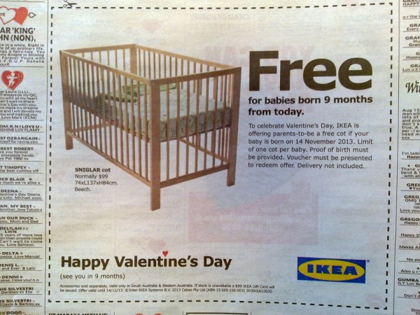 住宅でもやってみる?IKEAのユーモアな宣伝方法