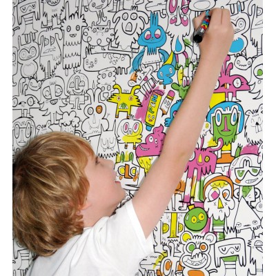 おうちの壁一面がボクのアートなんだ|roomie