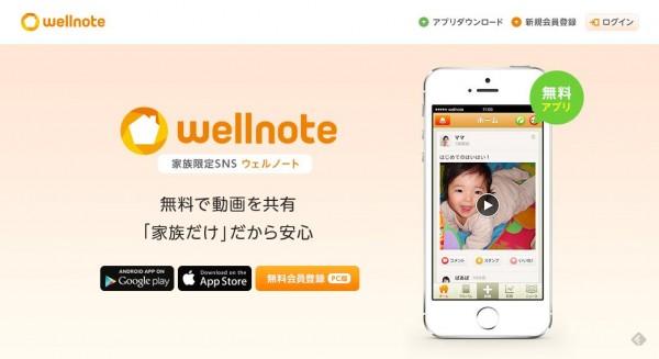 家族SNS wellnote(ウェルノート)
