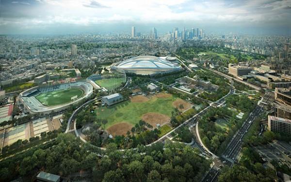 〈新国立競技場〉東京 2012- © Zaha Hadid Architects