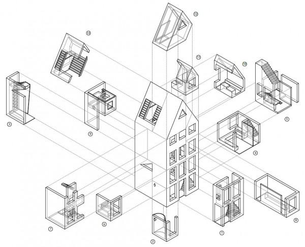 13の部屋が各々別のプロジェクトとして進められている