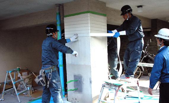 包帯で耐震補強する方法、住宅でも使える?