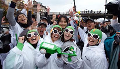 2010年9月、充電式エボルタで、東京→京都500kmの過酷なチャレンジを61日間で完全走破。