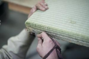 天然素材を使ったデザイン畳「ヴォロノイ畳」
