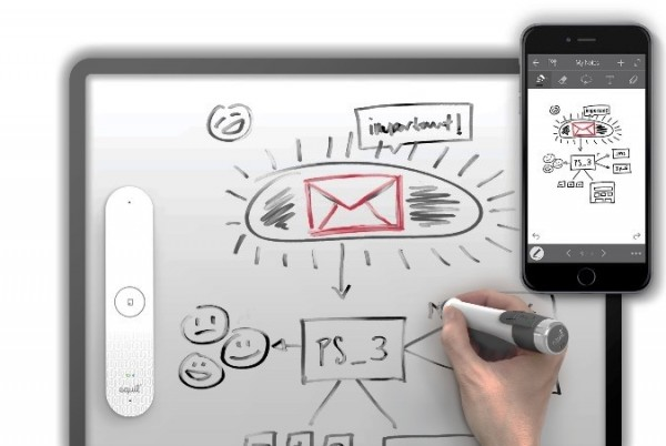 ホワイトボードを電子化する「Equil Smartmarker(エクイルスマートマーカー)」