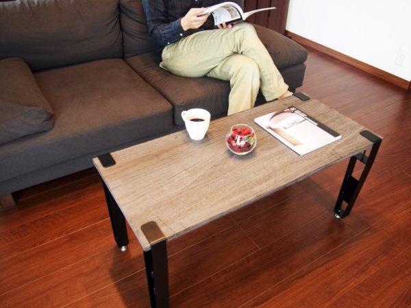 テーブル・イスを簡単DIY!好みの板と組合せてつくる自由な家具「noashi」
