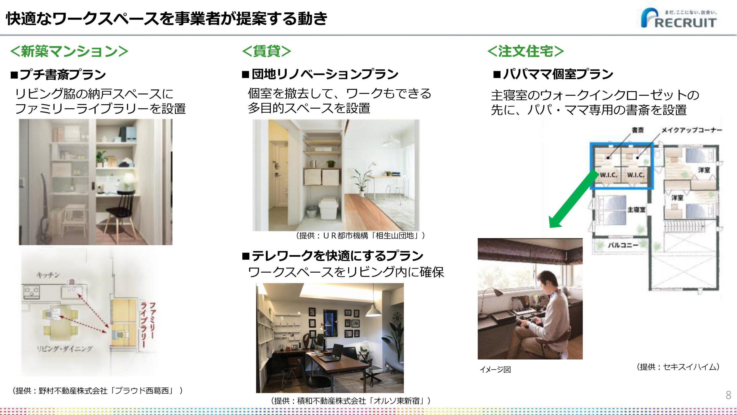 2020年の住まいは、快適なワークスペースを自ら自宅に作る動きと事業者が提案する動き!